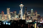 SEATTLE NIGHT PANORAMA COLOR PX