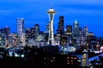 SEATTLE PANORAMIC SKYLINE DUSK PX