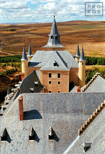 A view of the famous Alcazar castle of Segovia, Spain
