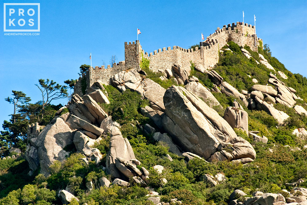 A view of the Castelo dos Mouros in Sintra, Portugal