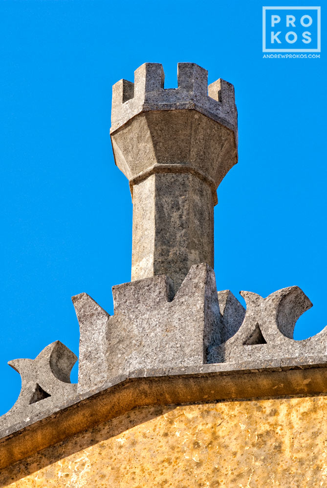 A chimney from the Palacio da Pena in Sintra, Portugal