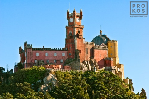 A view of the Palacio da Pena in Sintra, Portugal. The Palacio da Pena is a UNESCO World Heritage site.
