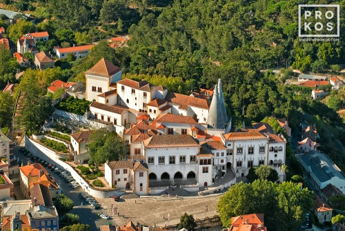 A view of the Palacio Nacional from above, Sintra, Portugal