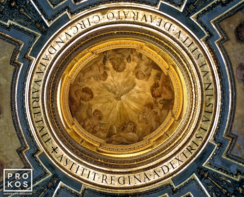 A fine art architectural photo of the oculus from a dome in St. Peter's Basilica, Rome.