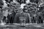 The Oval Fountain in the gardens of the Villa D'Este, Tivoli, Italy