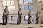 Roman legionnaire statues in the main hall of Union Station, Washington DC