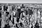 VIEW FROM EMPIRE STATE BUILDING NYC WIDE BW PX
