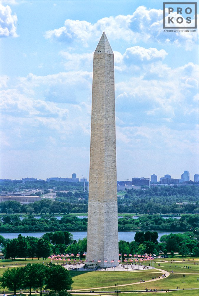An aerial View of the Washington Monument, Washington DC