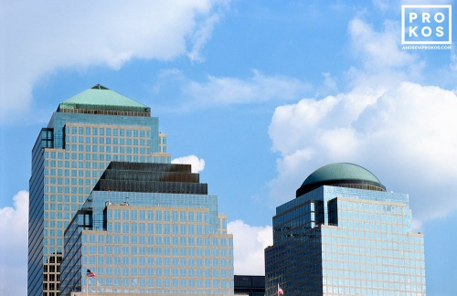 A daytime view of the World Financial Center buildings in Lower Manhattan, new York City