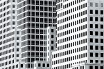 A black and white architecturaldetail fromthe World Financial Center, New York City
