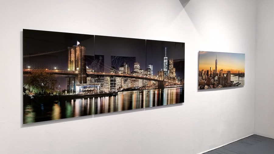 Framed large format cityscape and skyline photos at Andrew Prokos Gallery in New York City