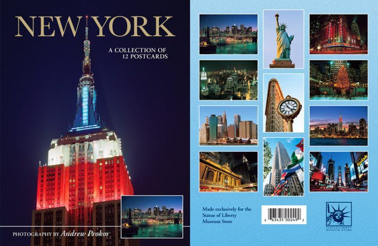 new york by andrew prokos postcard packet e