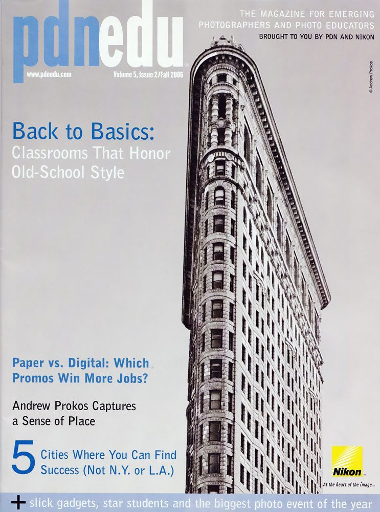 PDNedu magazine cover by photographer Andrew Prokos