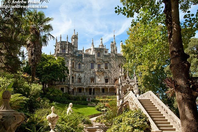 View of the Quinta da Regaleira Palace and Gardens